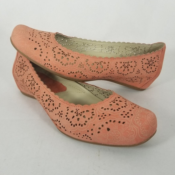 1a34a2fcc65d Earthies Shoes - Coral Bindi Comfort Hidden Wedges